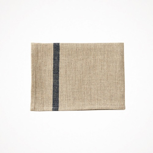 포그리넨워크 linen kitchen cloth - navy line natural