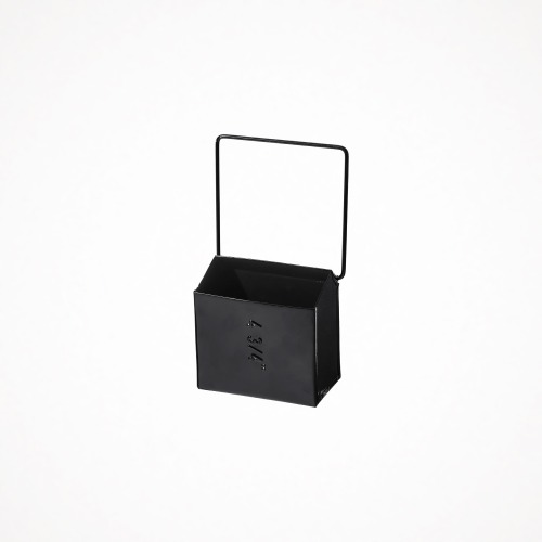 hanging tool storage box - wide, black