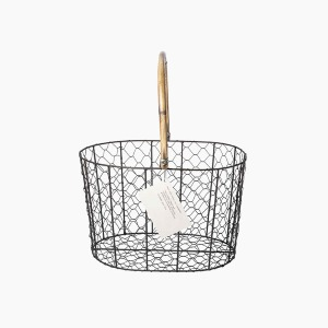 rattan handle wire basket