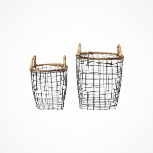 rattan top wire basket (2 종류)