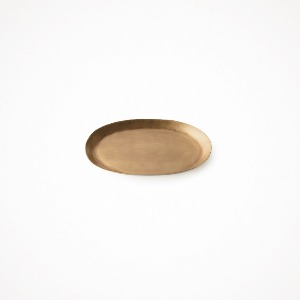 brass oval tray - small
