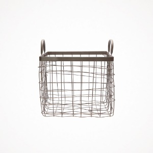 square basket with handle - medium