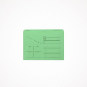 A5 archiving file - color, mint