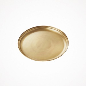 포그리넨워크 brass serving tray - round L