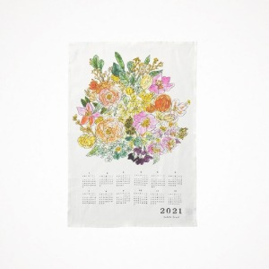 포그리넨워크 2021 linen calendar cloth - flower