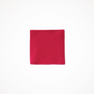 포그리넨워크 linen coaster - poppy red
