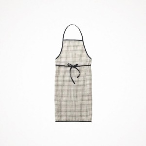포그리넨워크 linen piping apron - jenn