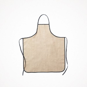 포그리넨워크 linen piping apron - natural